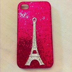 I found this phone case. I like the eiffel tower but the pink is a little bit sparkly for me!