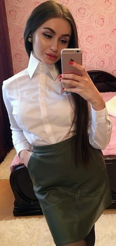 High Collar Shirts, High Collar Blouse, Sexy Blouse, Blouse And Skirt, Blouse Dress, White Shirt Outfits, White Shirts, Sexy Outfits, White Blouses