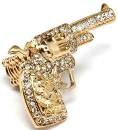 Blingy Crystal Ring - Great Gifts for Gun Nuts