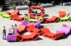 New public seating street furniture projects Ideas Concrete Furniture, Urban Furniture, Street Furniture, Furniture Projects, Luxury Furniture, Outdoor Furniture Sets, Furniture Design, Cheap Furniture, Furniture Movers