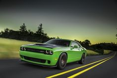 2015 Dodge Challenger SRT Hellcat—the most powerful muscle car ever—will run a quarter mile in 11.2 seconds, at 125 mph. That's on the Pirelli P Zero Y-rated performance tires, which have loads of grip; or when fitted with full-on drag radials, the Hellcat will do a 10.8-second run at 126 mph.