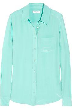 EQUIPMENT  Brett washed-silk shirt  $210