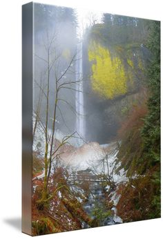 """""""The+Beauty+Of+Nature+Page+By+Page""""+by+Photography+Moments,+Boise+//+The+Beauty+Of+Nature+Page+By+Page,+Latourell+Falls+Winter+-+Columbia+River+Gorge+is+a+canyon+of+the+Columbia+River+in+the+Pacific+Northwest+//+Imagekind.com+--+Buy+stunning+fine+art+prints,+framed+prints+and+canvas+prints+directly+from+independent+working+artists+and+photographers."""