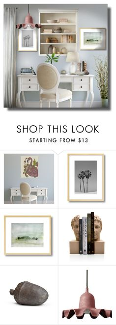 """""""Desk #5"""" by sally-simpson ❤ liked on Polyvore featuring interior, interiors, interior design, home, home decor, interior decorating, ELK Lighting and Seletti"""