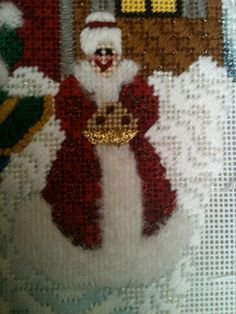 background stitch for snow Needlepoint Designs, Needlepoint Stitches, Needlework, Needlepoint Christmas Stockings, North Pole, New Books, Snowman, Projects To Try, Cross Stitch