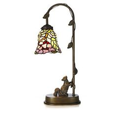 Superior Tiffany Style Handcrafted Acorn Table Lamp