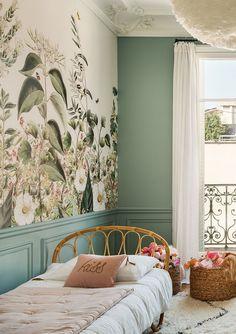 Interior Exterior, Interior Architecture, Interior Design, Floral Bedroom, Bedroom Decor, Tree Wall Murals, Bedroom Arrangement, Teenage Room, Sweet Home