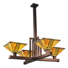 """This Item Was Custom Built For Craftsman Home In Th Chicago Area. The Overall Height Of This Fixture Is 46"""". The Overall Height Of This Fixture Is Easily Modified At The Time Of Your Order. The Overall Height Refers To The Distance From The Ceiling To The Very Bottom Of The Shade. The Shades And Metal Finish Can Also Be Customized."""