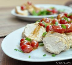 Chicken Pomodoro with Vodka Cream Sauce. Weeknight dinner that is so easy my friends. Yummy vodka cream sauce drizzled over the chicken, along with scallions & summer-time fresh tomatoes.