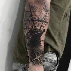 Resultado de imagem para desenho barco a vela tatoo