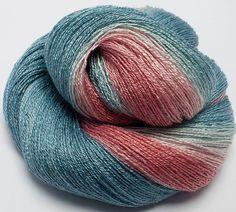 Gradient Dyed Bamboo / Silk Yarn , 97 gr