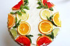 Citrus Cake with Lemon Curd Filling and Orange Lemon Icing (a.k.a. Stella Cake) #Apollinas #bake #recipe