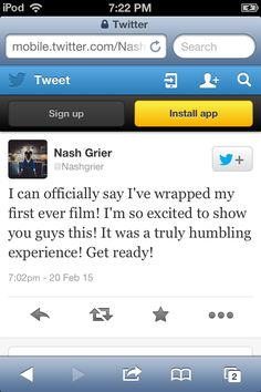 Congratulations Nashty ily so much! Words can not express how happy I am for you! I can't wait to see it<3 I wish I could tell you how much you mean to me and how happy I'm am for you in person because I love you soo much and I want to be with you... Or I wish I could try and get your attention on insta or twitter but I'm not aloud to have either and it kills me because I need you to notice me... You... I just can't explain in words how much you have helped me and made me a better person and…
