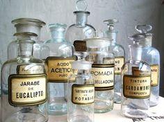 Vintage apothacary jars