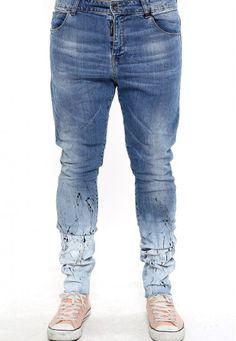 handmade blue jeans slim fit