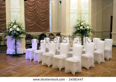 BB - Wedding hall and chairs - stock photo