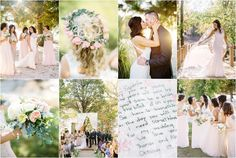 Fall wedding at Hunter Valley Farm in Knoxville, TN with blush pink flowers and bridesmaids dresses!
