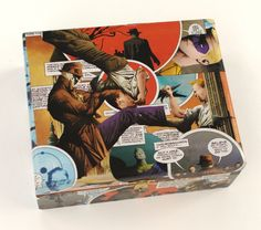 Come and Get it with Rorschach The Watchmen comic book cigar box by Paper Vs. Glue