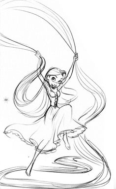 Adorable Tangled Concept Art. https://www.facebook.com/CharacterDesignReferences