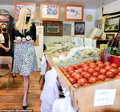 Ivanka Trump shows off her slim waist in a $1,190 dalmatian-print skirt at a farm in North Carolina   Daily Mail Online