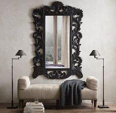 ROCOCO Mirror in Black -- Rooms   Restoration Hardware