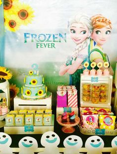 Frozen Fever birthday party! See more party ideas at CatchMyParty.com!