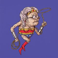 Funny illustrations show us what superheroes look like when they get old