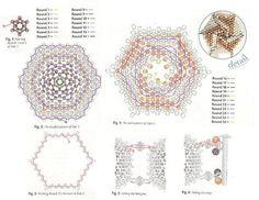 flat hexagonal peyote #medallion