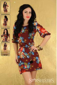Rochie LaDonna cu maneci 3/4 - Masuri S, M, L #rochiideprimavara Short Sleeve Dresses, Dresses With Sleeves, Long Sleeve, Fashion, Moda, Gowns With Sleeves, Fashion Styles, Fasion
