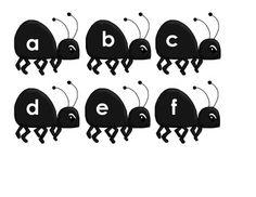 Upper and Lowercase Alphabet match - watermelon.ants - Maddie M - TeachersPayTeachers.com