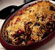 Gratin of white cabbage & lentils in a Provençal sauce --sounds heavenly Bbc Good Food Recipes, Veggie Recipes, Vegetarian Recipes, Cooking Recipes, Savoury Recipes, Veggie Food, Diabetic Recipes, Autumn Winter Recipes, Winter Food