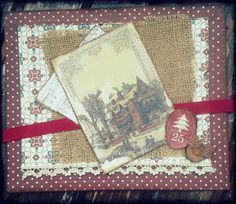 X'mas Cards by ch... #scrapbooking #scrap #vintage #xmascards #xmas #navidad #chbycarolacoch @Carol Van De Maele Auvil Coch