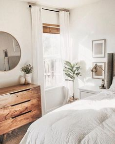 simple modern home design ideas - boho bedroom decor inspiration - Claire C. - simple modern home design ideas – boho bedroom decor inspiration – - Boho Bedroom Decor, Room Ideas Bedroom, Trendy Bedroom, Home Bedroom, Living Room Decor, Bedroom Small, Bedroom Inspo, Bedroom Designs, Mirror Bedroom