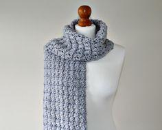 Jasmine Chunky Crochet Scarf Pattern | AllFreeCrochet.com
