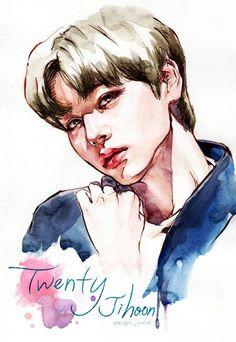Jinyoung, Parks, Fanart, Drawings, Celebs, Fan Art, Drawing, Portrait, Parkas
