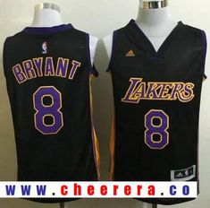 5c98d3ba72d Men s Los Angeles Lakers Kobe Bryant Purple with Black Stitched NBA adidas  Revolution 30 Swingman Jersey