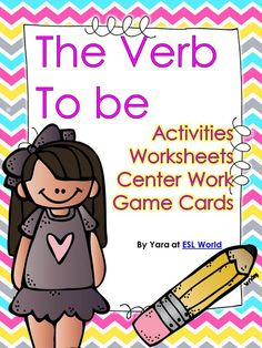This unit is a collection of activities used to reinforce the use of the verb to be with ESL students in a Beginner's level or a pre-intermediatte level.  It includes: -Verb to be Posters / cut outs to be hung in the classroom. All verb forms included (affirmative, negative and interrogative) -Reading activity worksheets and response questions. -Game Center cards: Subjects, verb in affirmative, negative and interrogative forms including picture cards. ESL World $