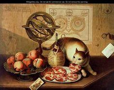 Still Life with Cat  | by Sebastiano Lazzari