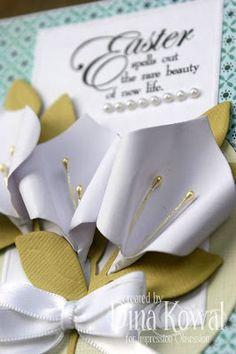 Mama Dini's Stamperia: Paper Calla Lily Tutorial