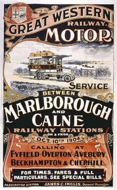 Great Western Railway Motor Service poster. Is this prior to the Box Hill tunnel?