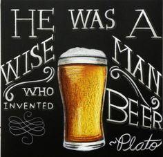 Beer Glass Chalkboard Plato - Chalk It Up Signs