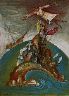 Dream Painting by George Kordis Framed Prints, Canvas Prints, Art Prints, Richard Burlet, Dream Painting, Byzantine Icons, Sacred Art, Black History, Unique Art