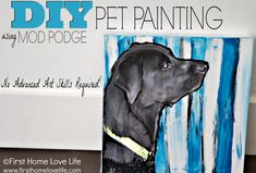 I sooo want to do this!  Paint Your Own Pet Portrait Using Mod Podge from First Home Love Life
