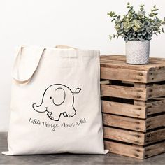 Your place to buy and sell all things handmade Elephant Canvas, Custom Tote Bags, Custom Wedding Gifts, Canvas Tote Bags, Reusable Tote Bags, Handbags, Unique Jewelry, Handmade Gifts, Christmas