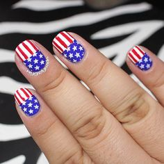 Cute Nail Art Idea for the 4th of July