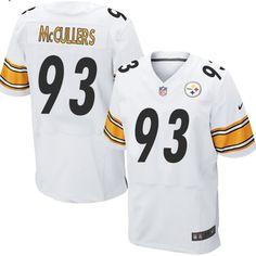 Men's Nike Pittsburgh Steelers #93 Dan McCullers Elite White NFL Jersey