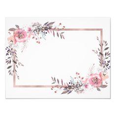 Frame Floral, Rose Gold Frame, Flower Frame, Gold Wallpaper Background, Rose Gold Wallpaper, Invitation Background, Floral Invitation, Be My Bridesmaid Cards, Will You Be My Bridesmaid