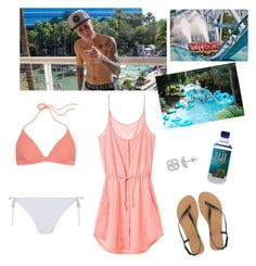 """""""Water park!"""" by paradise19t ❤ liked on Polyvore featuring Victoria's Secret, T By Alexander Wang, ASOS and Justin Bieber"""