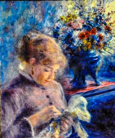 Pierre Auguste Renoir - Young Woman Sewing, 1879 at Art Institute of Chicago IL
