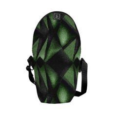 Green Diamond Messenger Bag